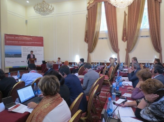 Affichage aggrandi: •	Presentation at the Central Asia Regional Climate Services Workshop